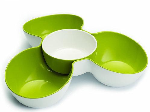 Joseph Joseph Bandeja triple para snack color Verde
