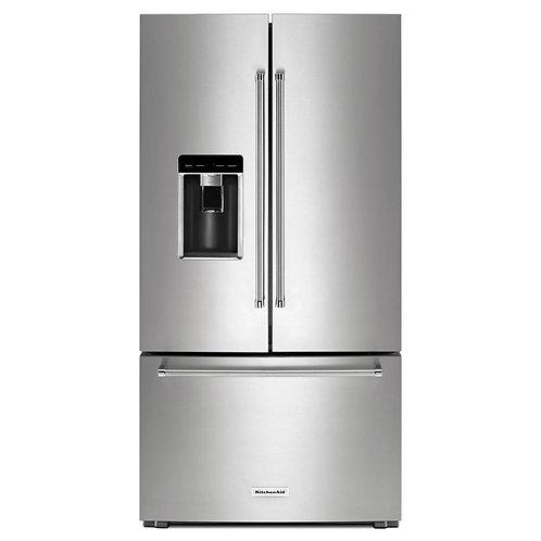 KitchenAid Refrigeradora French Door con dispensador 36in