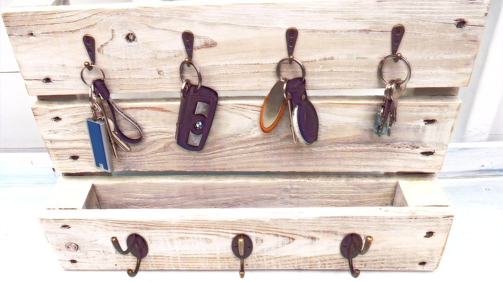 Keys & Coats Recycled Wood