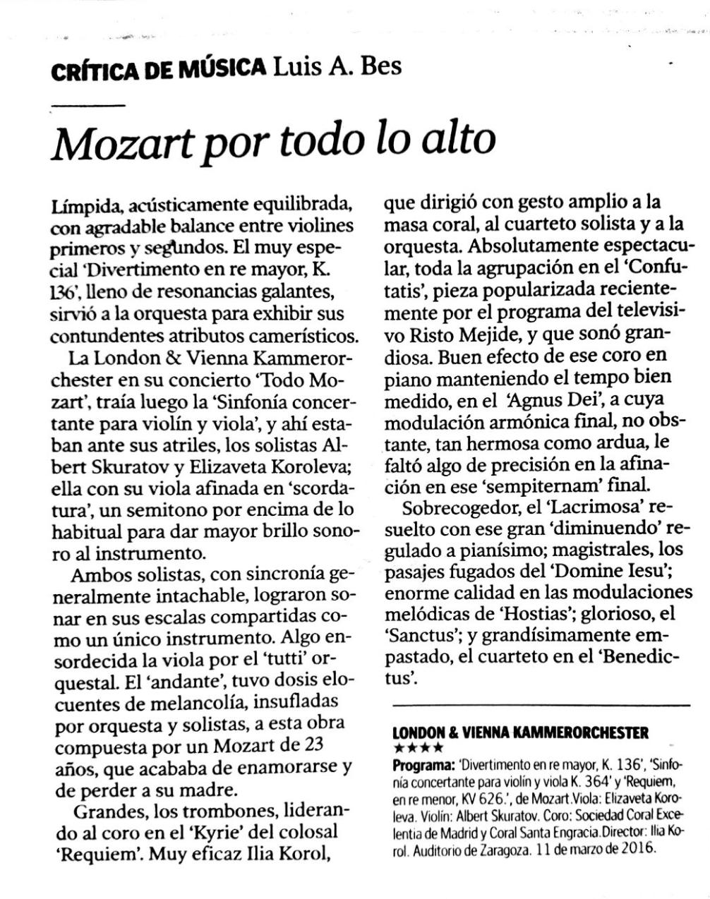 Requiem M. Auditorio Marzo 2016