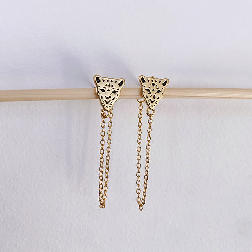 Tiger Chain Earrings