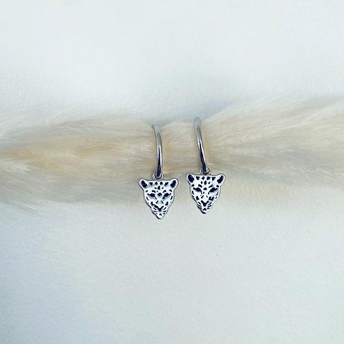 Silver Huggie Hoop Earrings