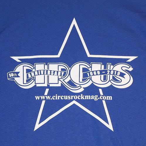 3XL - Vintage One Color Logo - Blue Shirt