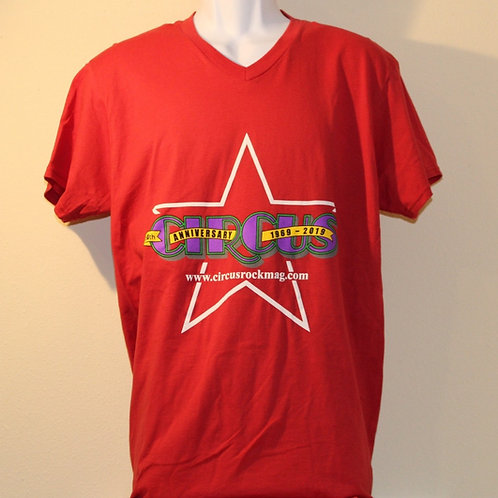 Large - Brighter Multi-Color Logo - Red Shirt