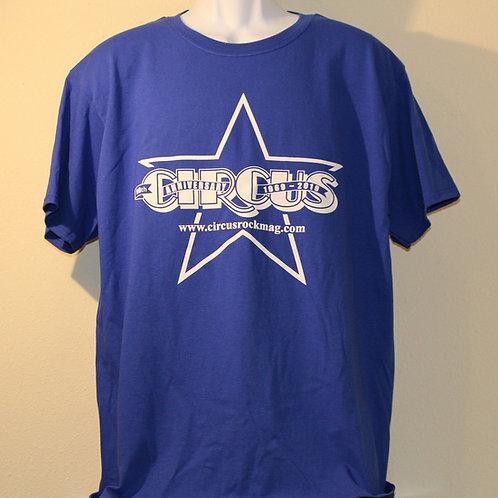 2XL - Vintage One Color Logo - Blue Shirt