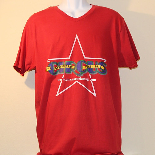 Large - Darker Multi-Color Logo - Red Shirt