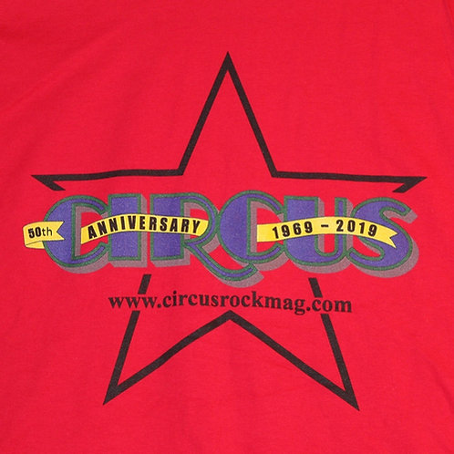 XL - Darkest Multi-Color Logo - Red Shirt
