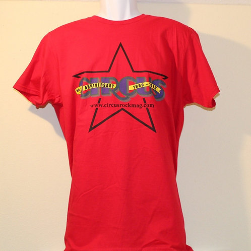 Large - Darkest Multi-Color Logo - Red Shirt