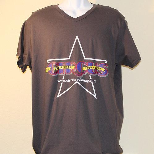 Large - Darker Multi-Color Logo - Grey Shirt