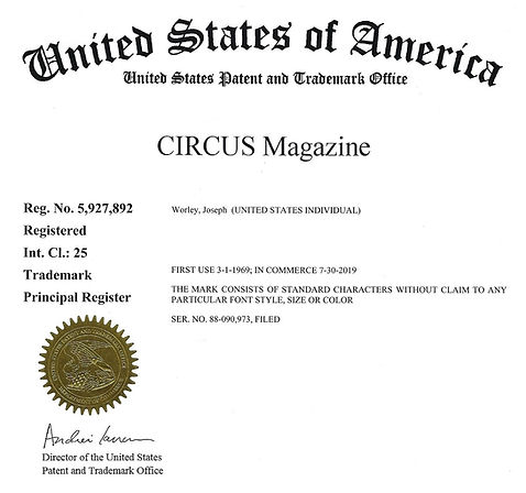 CIRCUS Magzine Trademark