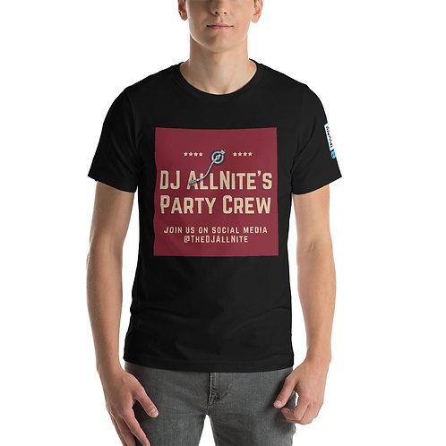 DJ Allnite Party Crew Short-Sleeve Unisex T-Shirt