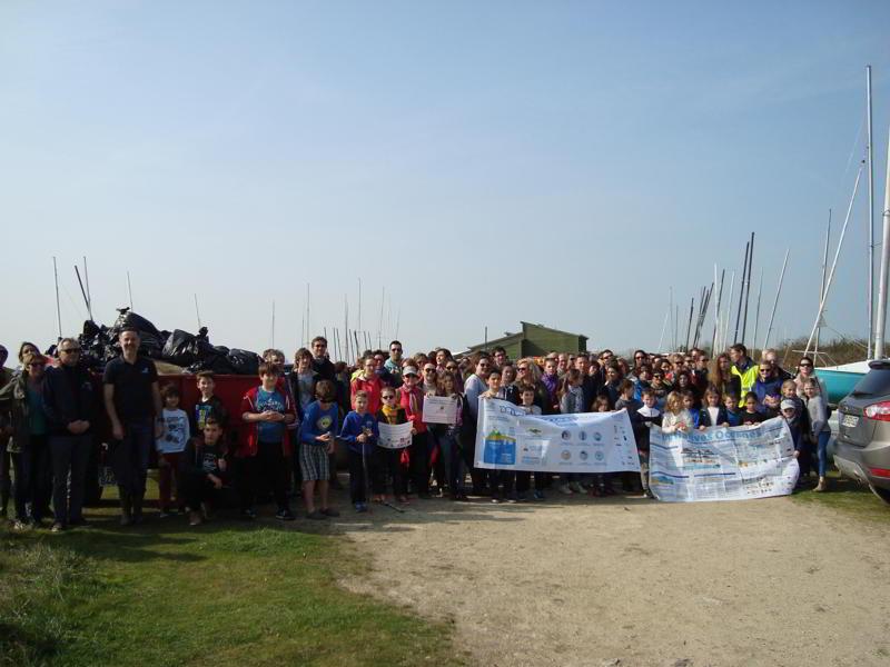 Chantier dans l'estuaire de l'Orne