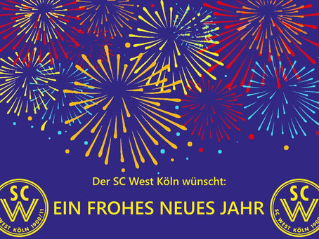 Der SC West Köln wünscht ein frohes neues Jahr
