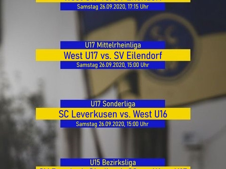 Spieltagspreview der Jugend 26.-27.09.