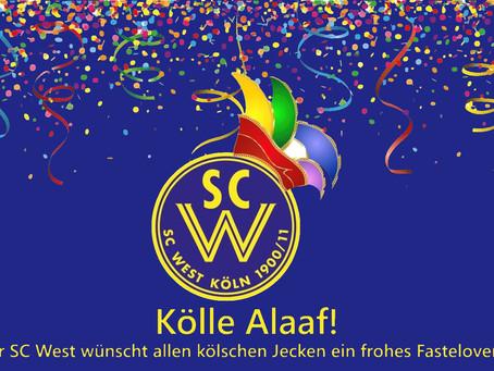Der SC West wünscht eine frohe Karnevalszeit!