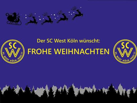 Der SC West wünscht frohe Weihnachten
