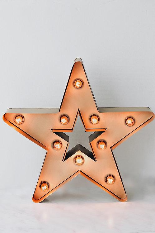 Marquee Light Star Gold Masa Lambası
