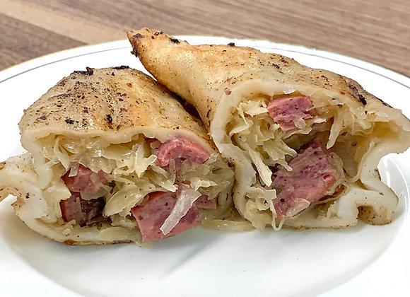 Polish Sausage & Sauerkraut with Sautéed Onions (4)