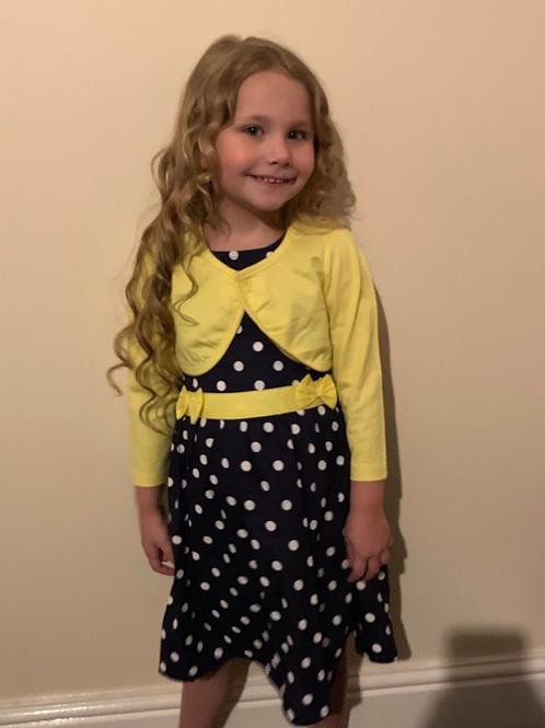 Mini Moi polka dot dress and shrug