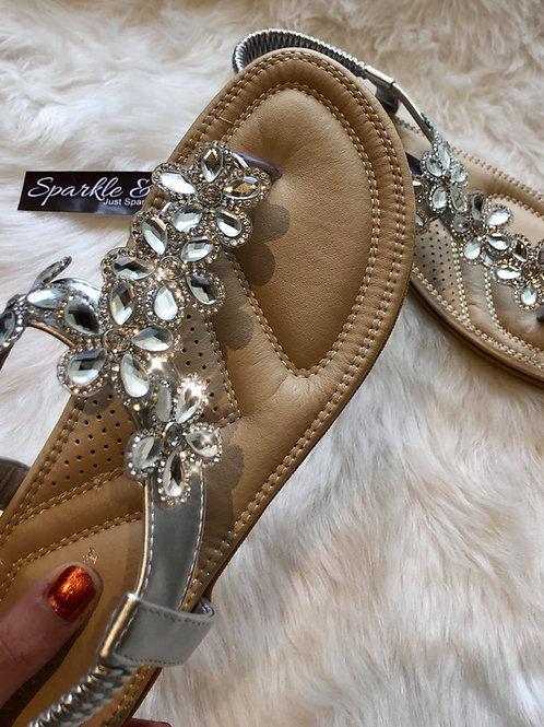 Crystal toe post Sandals
