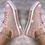 Thumbnail: Pink iridescent glitter sneakers 💎