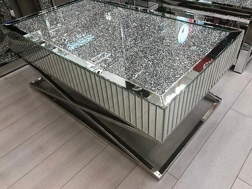 Large Crushed Diamond coffee table