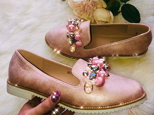 Shimmer Pink Jewel Shoe