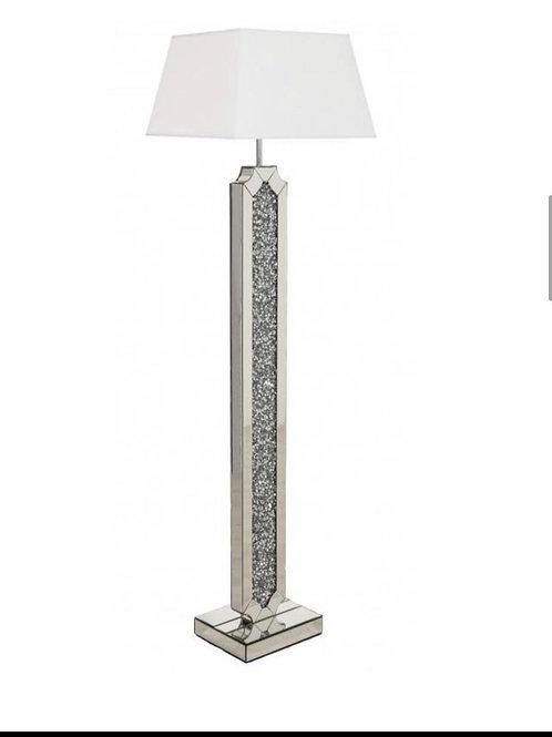 Crushed diamond & mirror floor lamp