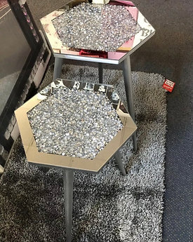 Crushed Diamond small side table x1