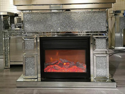 Chunky Crushed diamond fireplace and surround