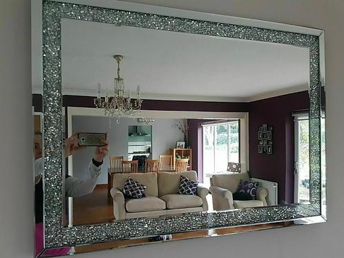 Diamond Crushed Crystal wall mirror 90 x 65cm