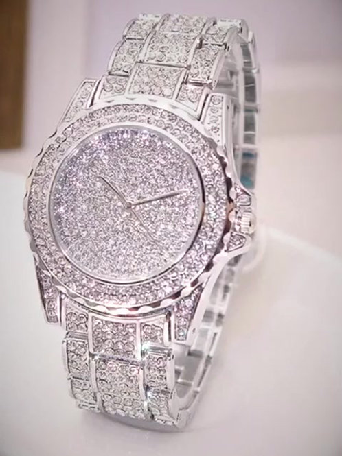 Luxury Ladies Diamond Rhinestone Fashion Quartz Watch