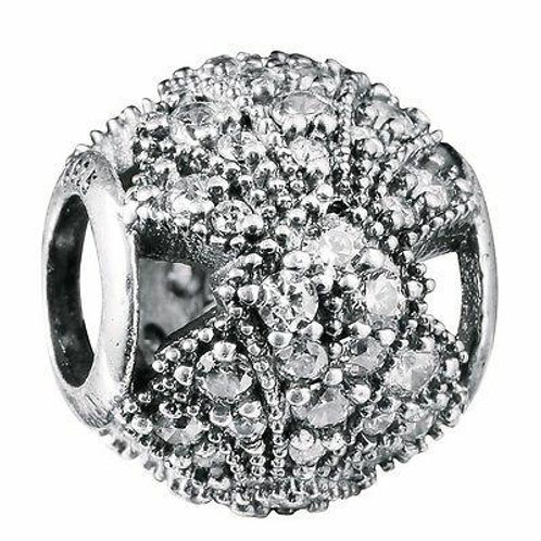 CZ Crystal Charm 925 Sterling Silver