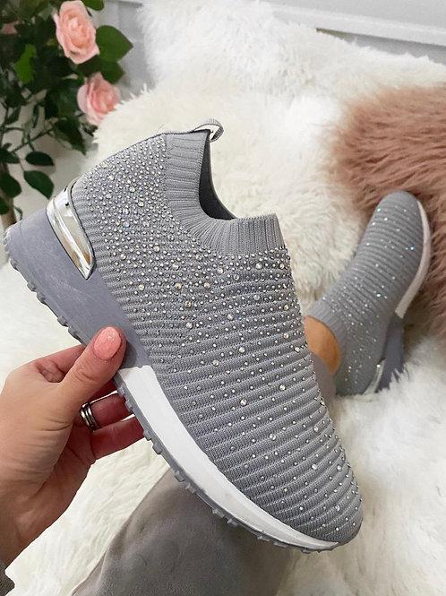 Slip on Diamanté sneakers