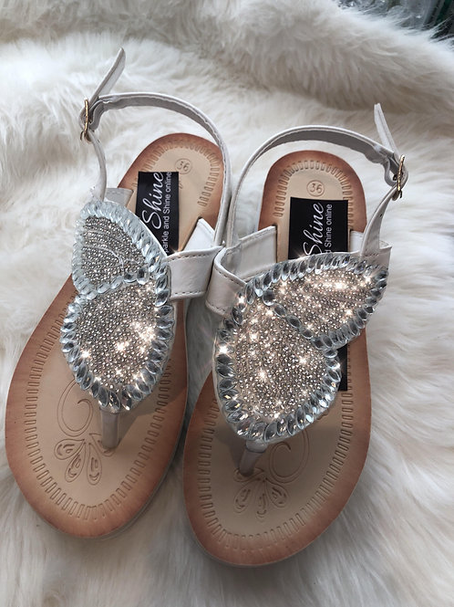 Rhinestone sandals, Angel Wings