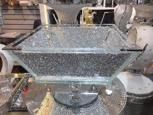 Large fruit bowl crushed diamond
