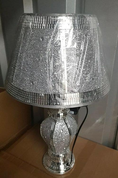 Crushed Diamond Silver LED Vase Lamp Bling Table Lamp Shade