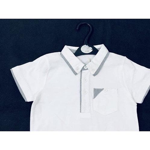 Boys white polo 👕 ages 3 - 13 yrs