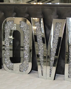 Crushed Diamond LOVE Letters mirror wall decor