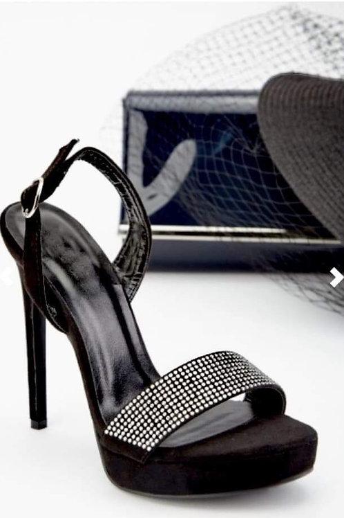Crystal stiletto heeled sandals