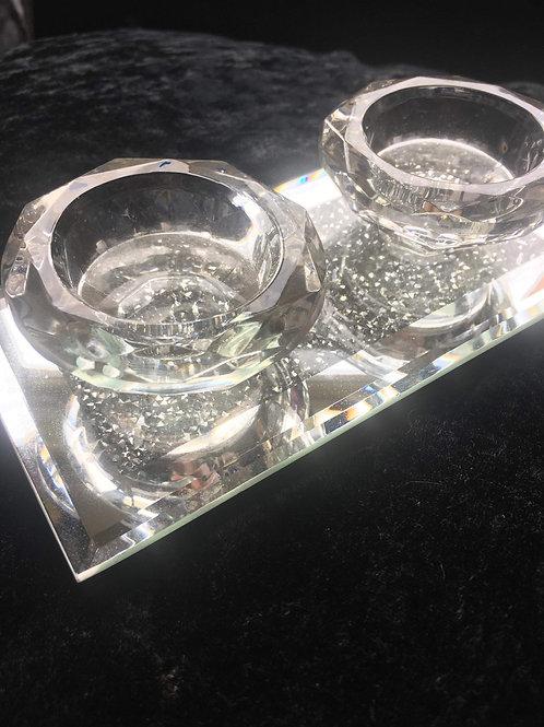 Crystal Double Milano Tealight holder