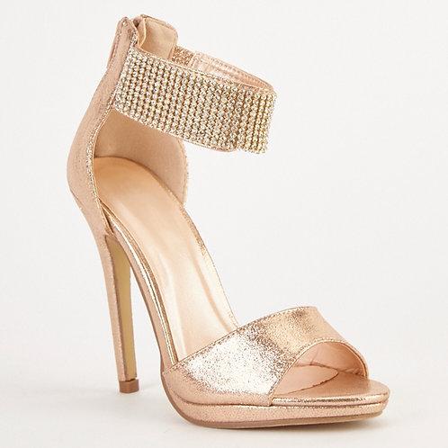 Champagne encrusted Heels