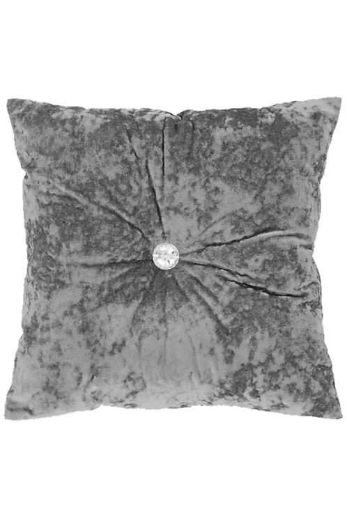 Grey / silver crystal scatter cushion