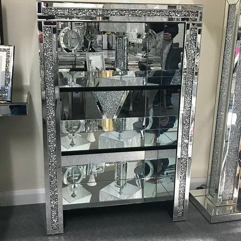 Crushed Diamond mirrored unit