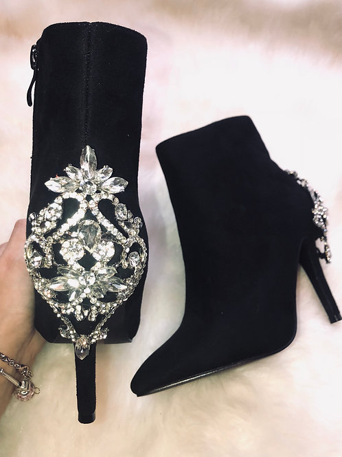Vivian Crystal Ankle Boots