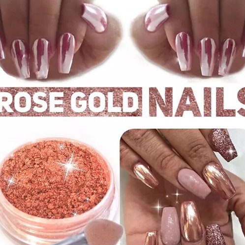 Rose Gold Mirror Chrome nail Dust