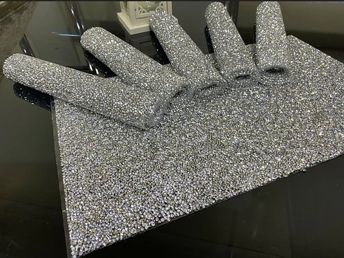 Silver crystal placemats 6 pcs