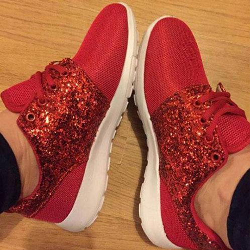 Red Half Glitter