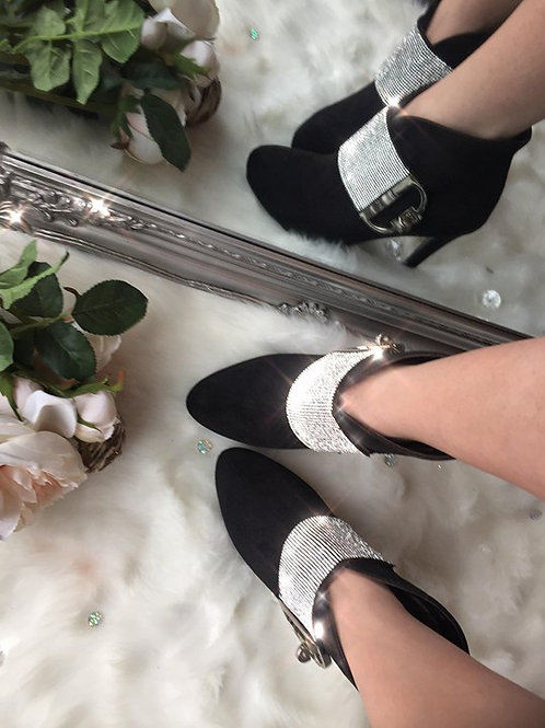 Crystal Buckle Boots