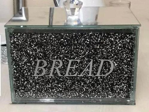 Black / silver crushed Diamond bread bin